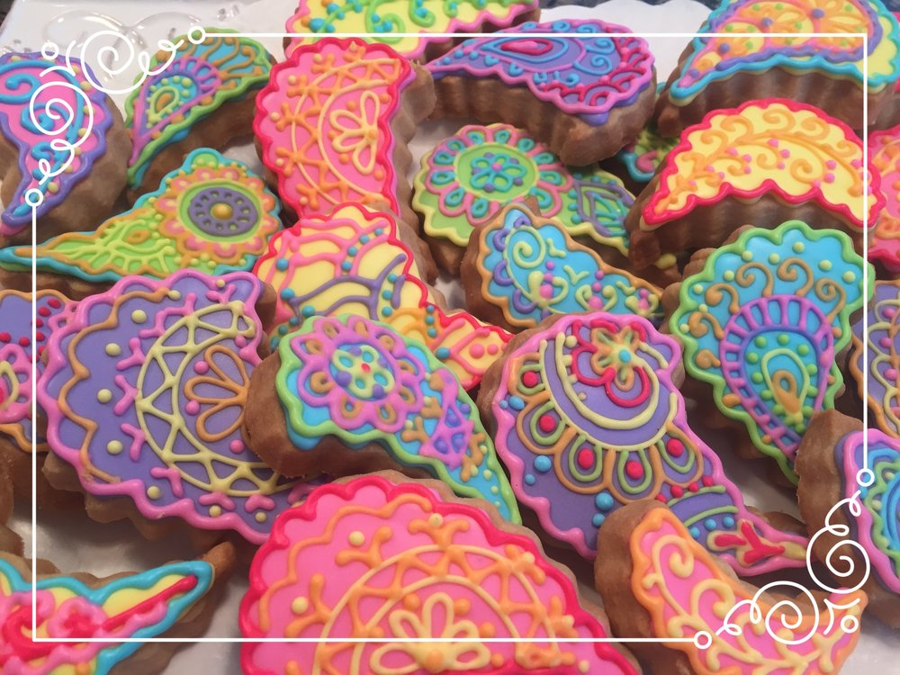 Paisley Custom Cookies