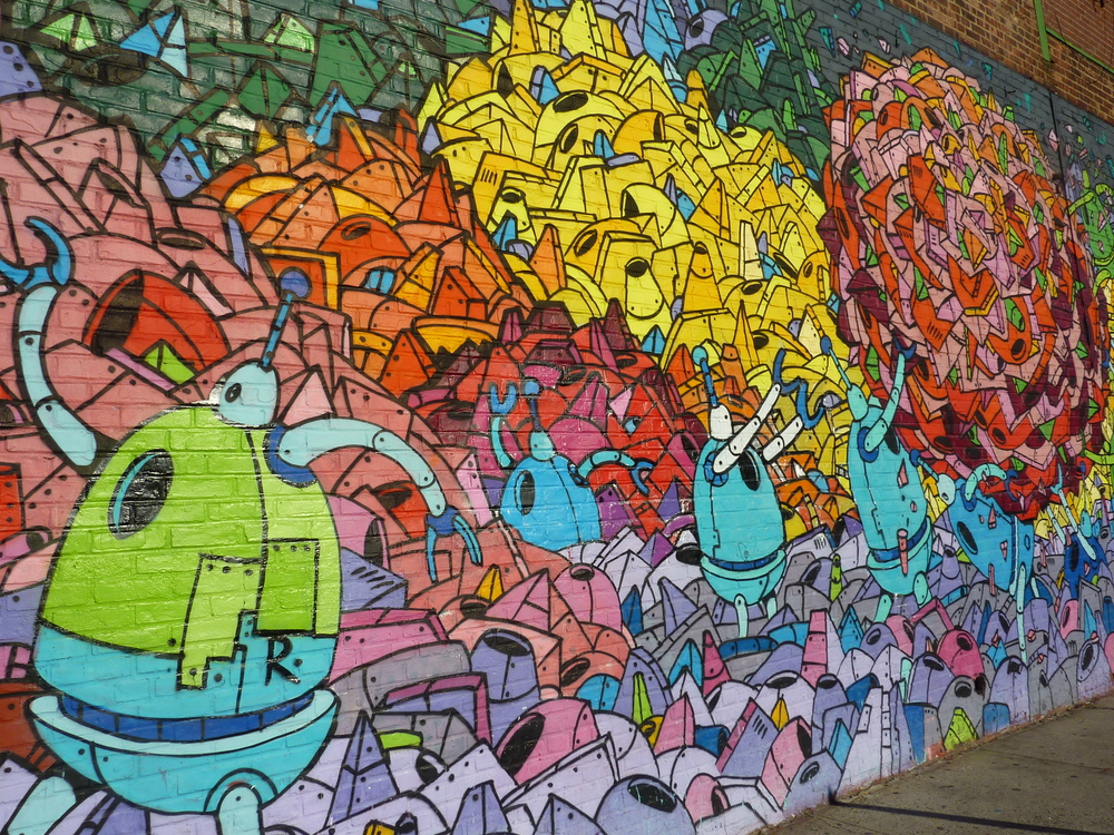Graffitti i Brooklyn.
