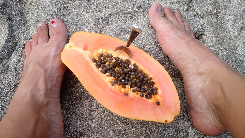 Papaya på la playa