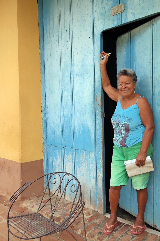 Cuban lady in Trinidad