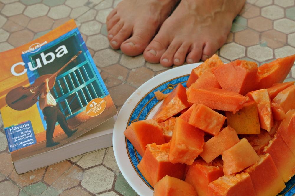 papaya on Cuba