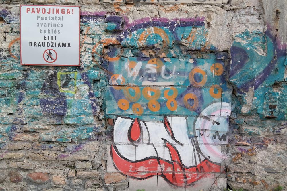 Grafittikonst i Uzupis.