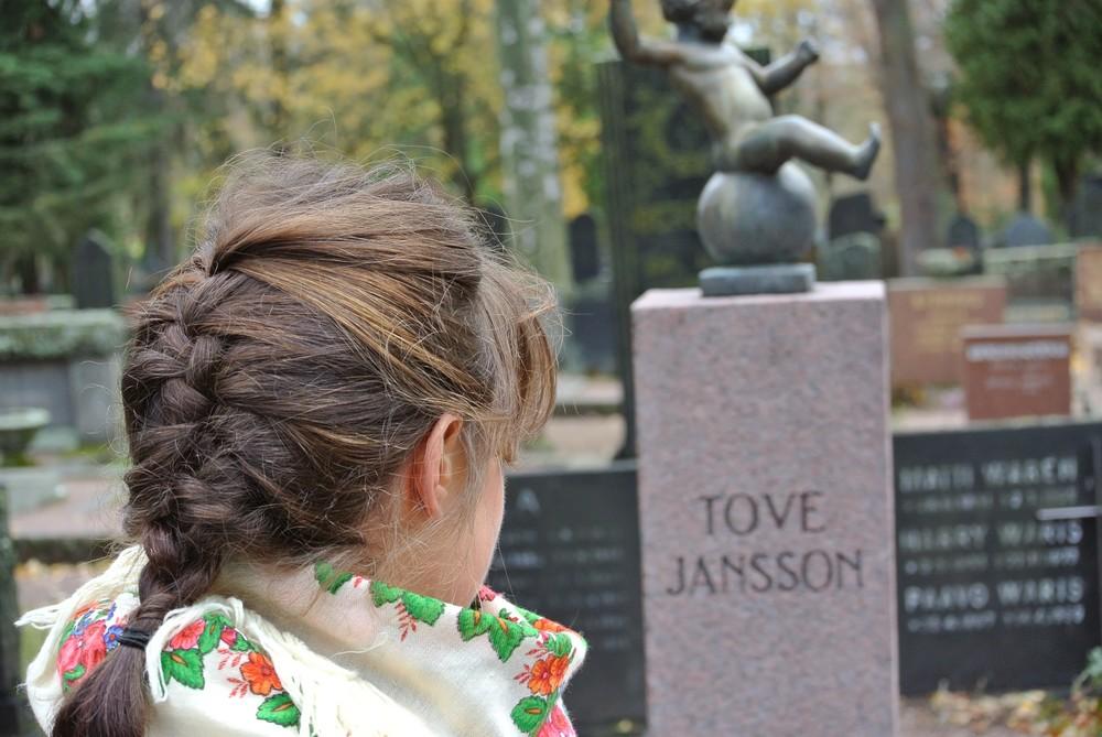 Tova Janssons grav i Helsingfors, Finland.