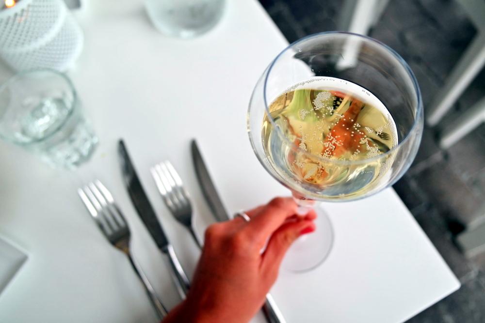 Bubblig skål i väntan på middagen
