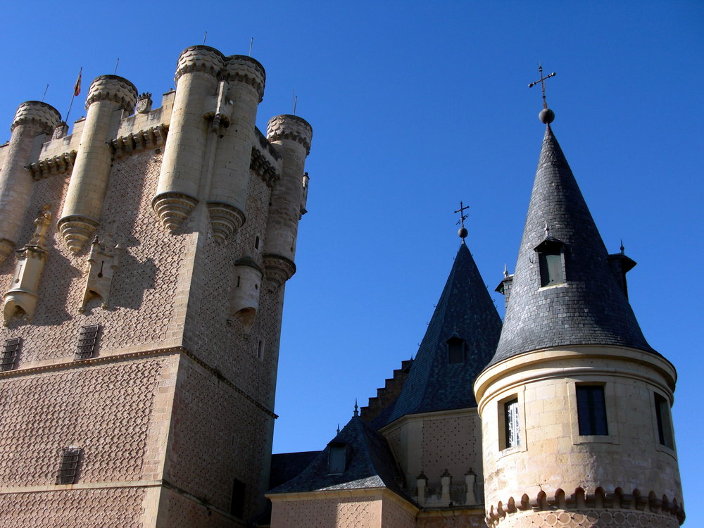 Slottet i Segovia, Spanien.