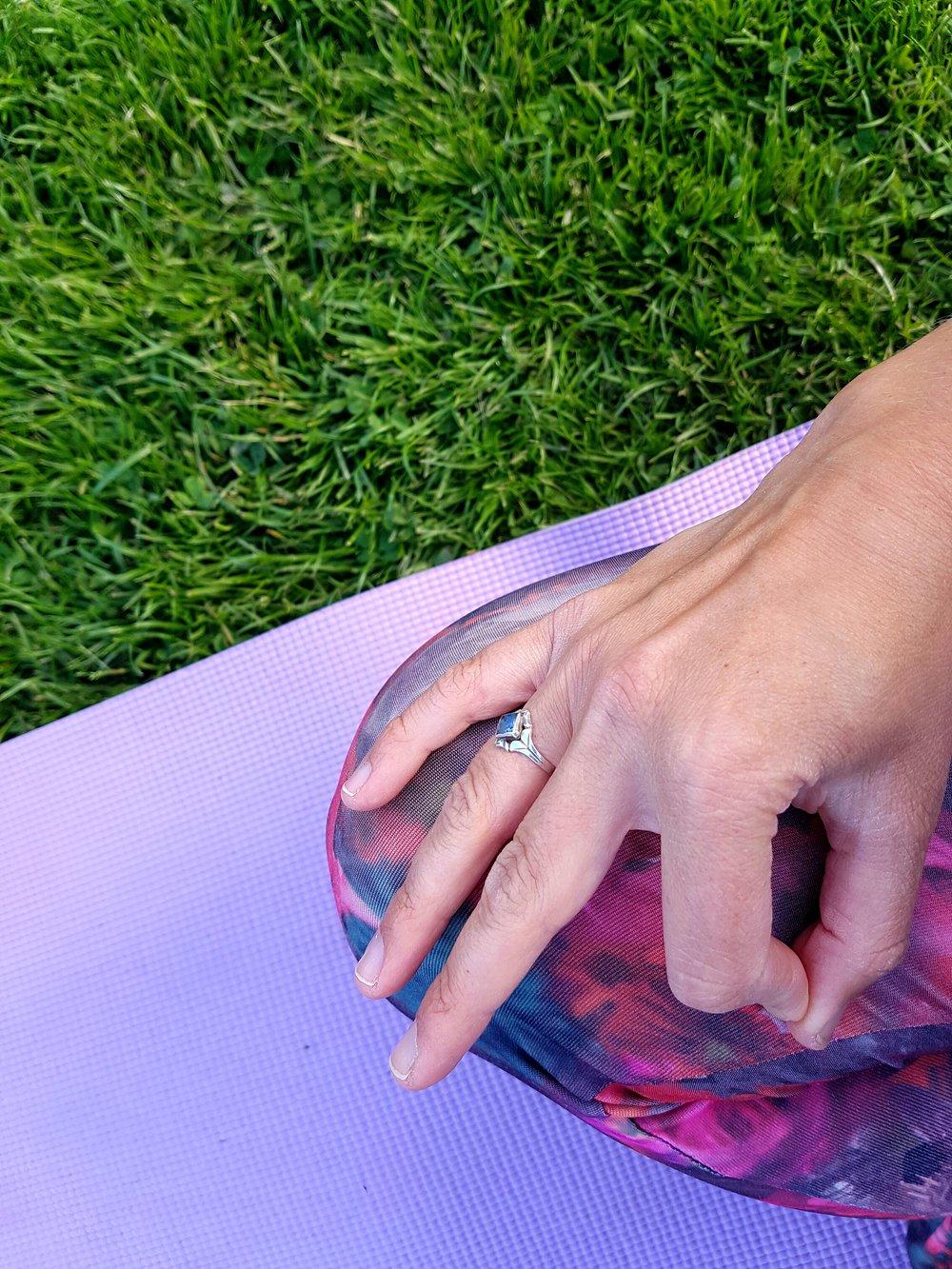 Stilla stund på yogadagen