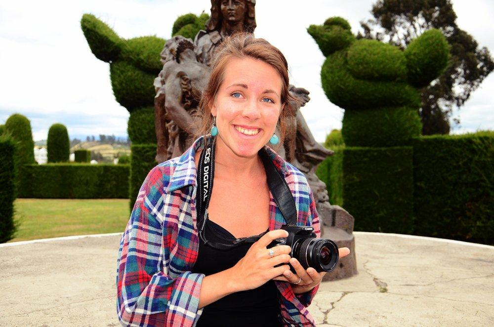 Ute på fotouppdrag som journalist i Ecuador.