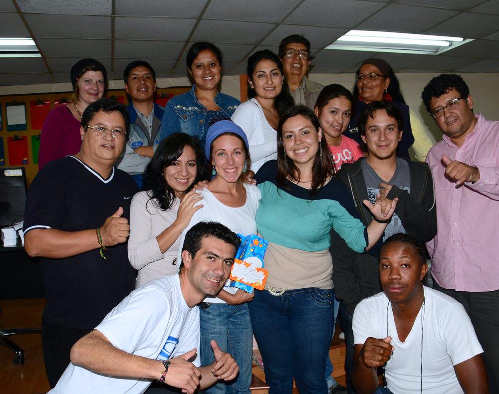 Hela redaktionsgänget på Diario El Norte i Ibarra.