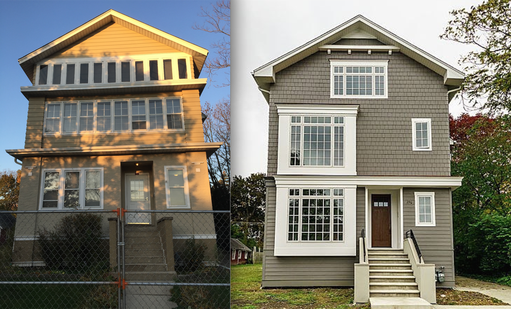 Exterior & Interior Renovation of a Three Story Home in Elmhurst, Illinois