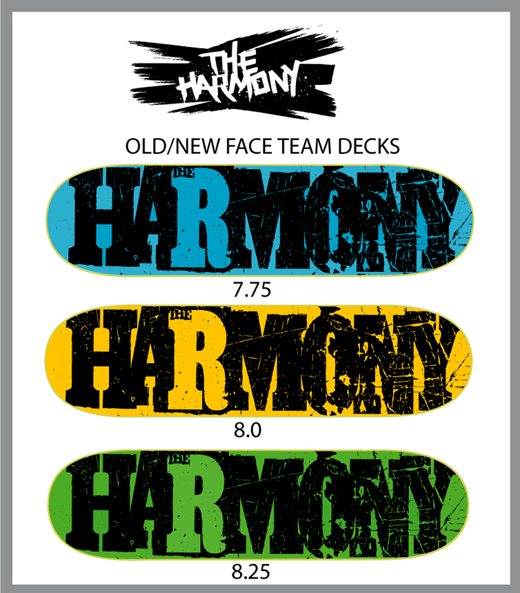 New Harmony Team Decks Out Now