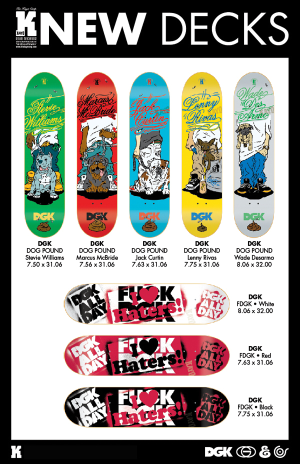 DGK Skateboards, New Dog Pound & FDGK Decks