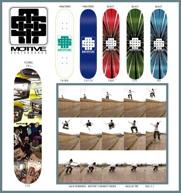 Motive Skateboards New Decks