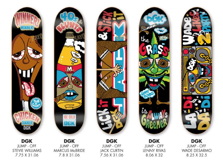 Dgk Skateboards New Jump Off Decks In Now Ifive