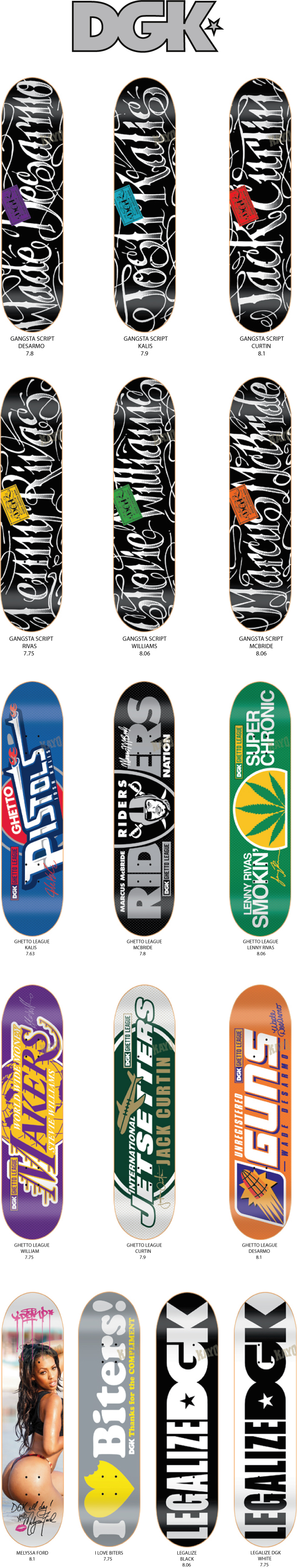 DGK GANGSTERSCRIPT DECKS