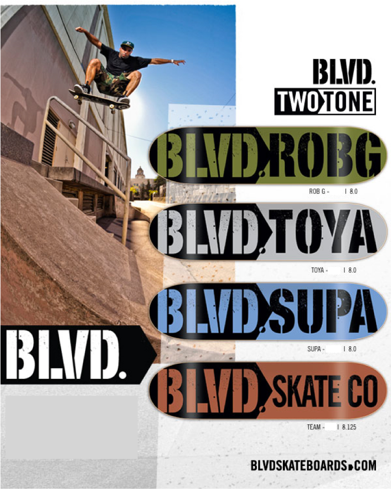 Blvd Skateboards New Two Tone Decks Ifive Distribution