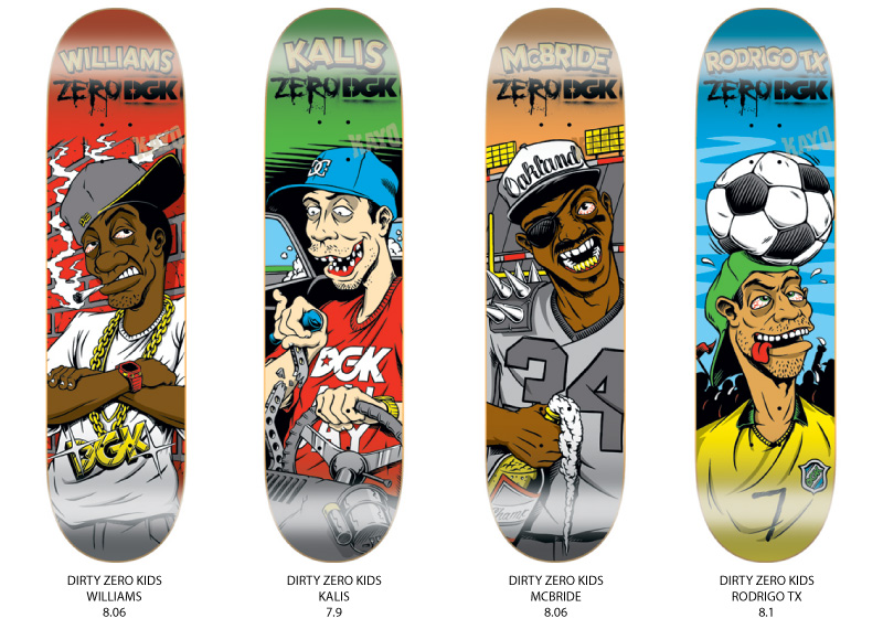 DGK Skateboards,DGK x ZERO skateboards,Ghetto Rama,Stevie Williams ...