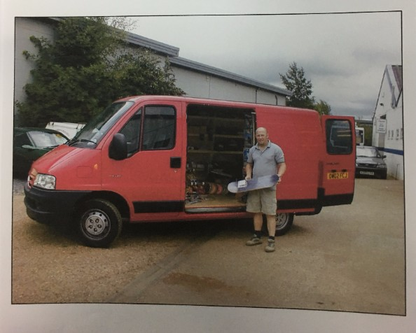 ADAM BROUGHT A VAN AND TRAVELLED THE UK VISITING SHOPS