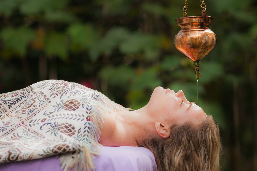 Warm Oil Application, Sauna& Shirodhara - Each day you will receive an individually prepared herbal-oil application called Abhyanga designed to deeply penetrate the skin, soothe the mind-body, break up impurities, and stimulate lymphatic circulation. Shirodhara is a treatment especially designed to calm and balance the nervous system.
