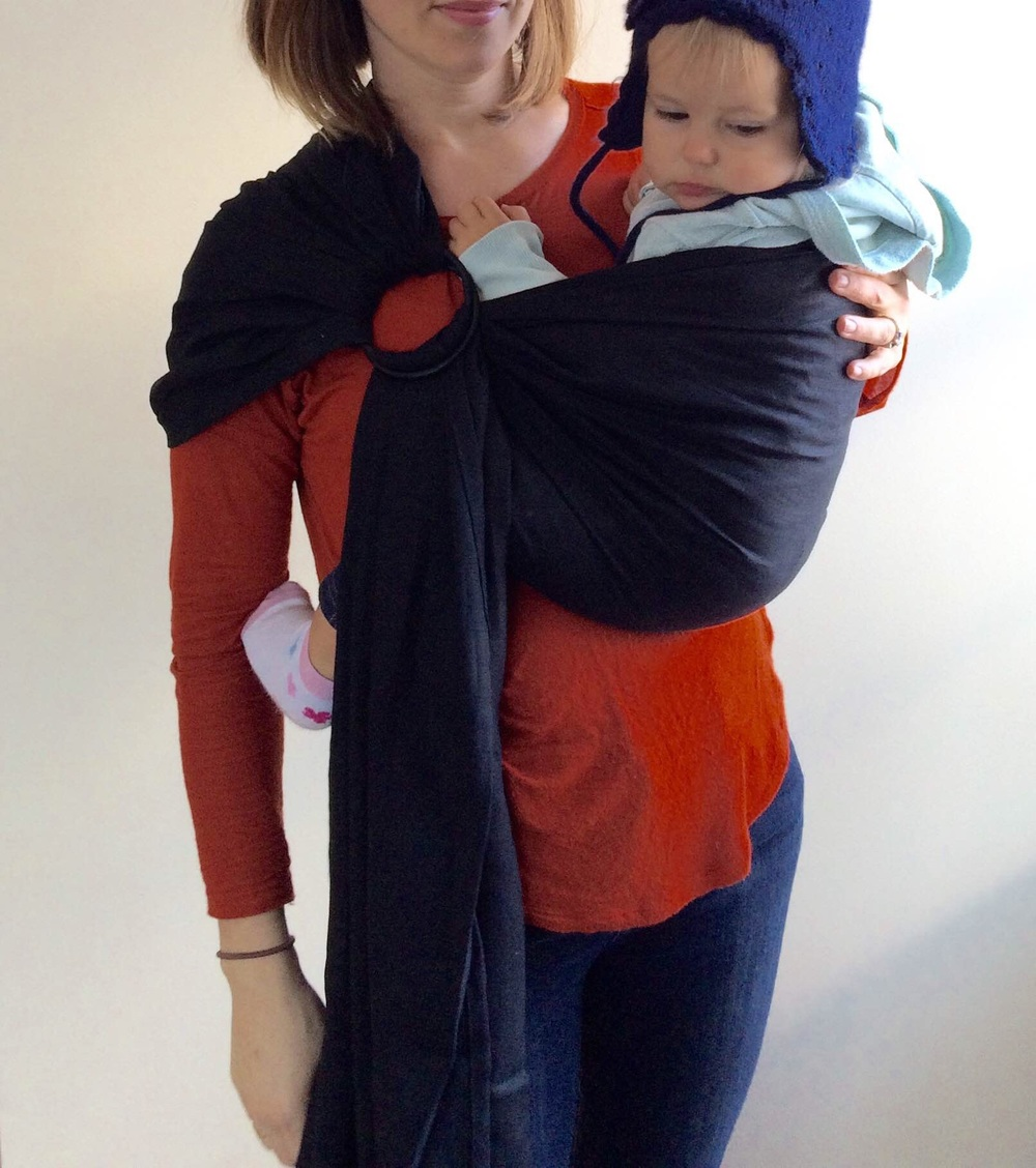 The correct way to wear your ring sling.