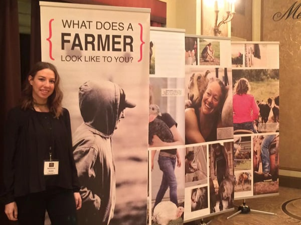 FarmHer banner at the 2015 Executive Women in Agriculture Conference, Chicago, IL