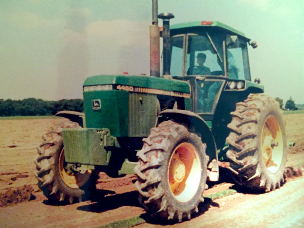 Deep ripping tillage with my uncle after a turf grass harvest (circa 1983). By this time at around 8 years old I had already caught the agriculture bug for sure.