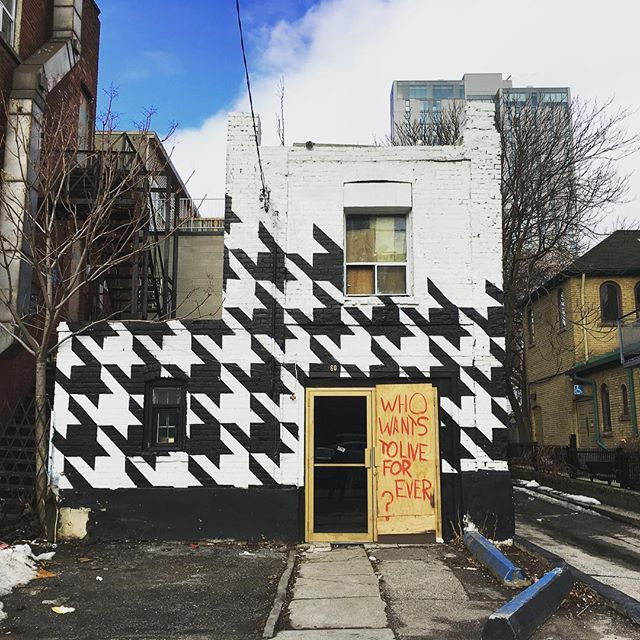 Who wants to live forever? Houndstooth house does. #chinatown #paintedhouses