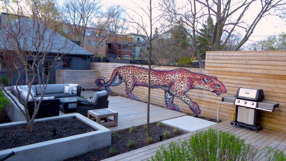 Private Backyard Mural by Blackburn