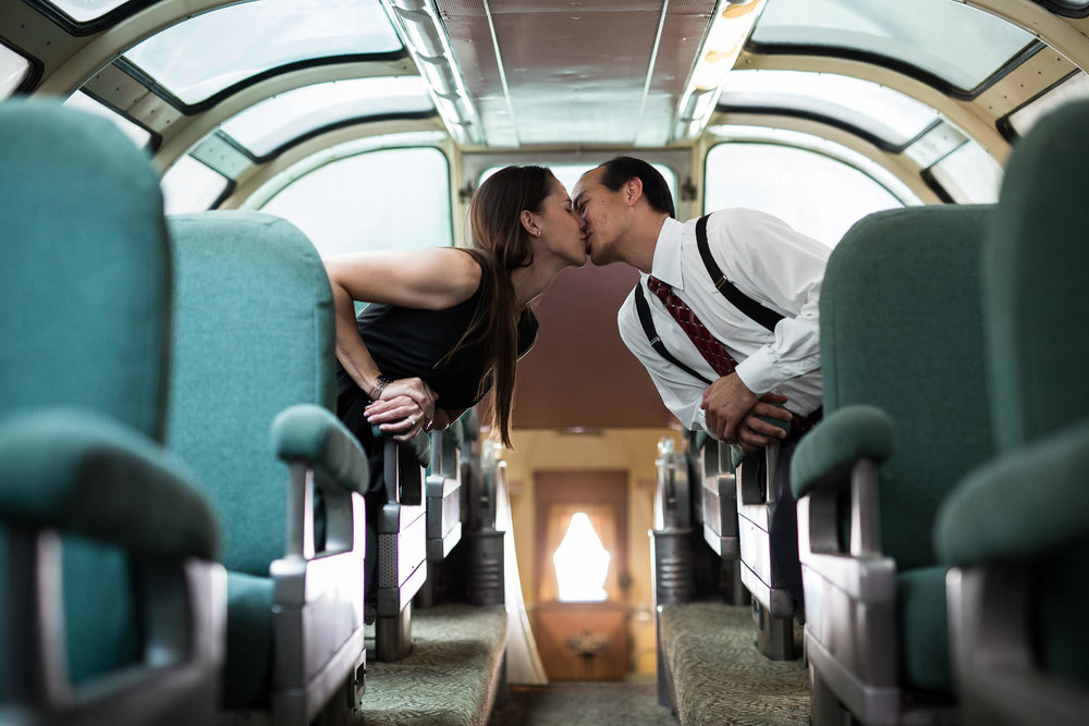 engagement session in train