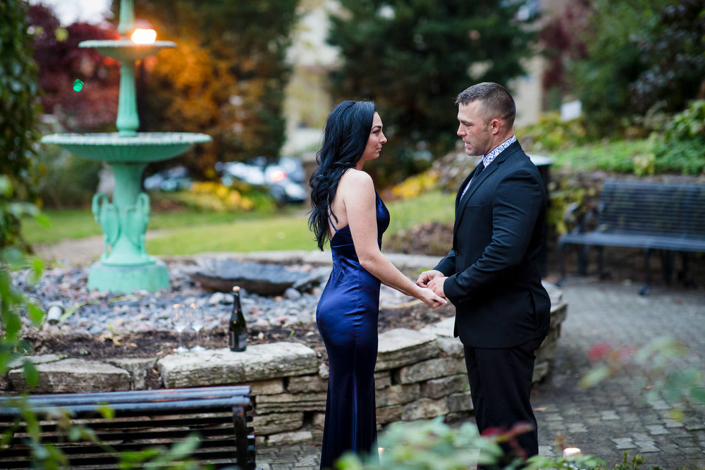 Pre-proposal moment in Period Garden Park.