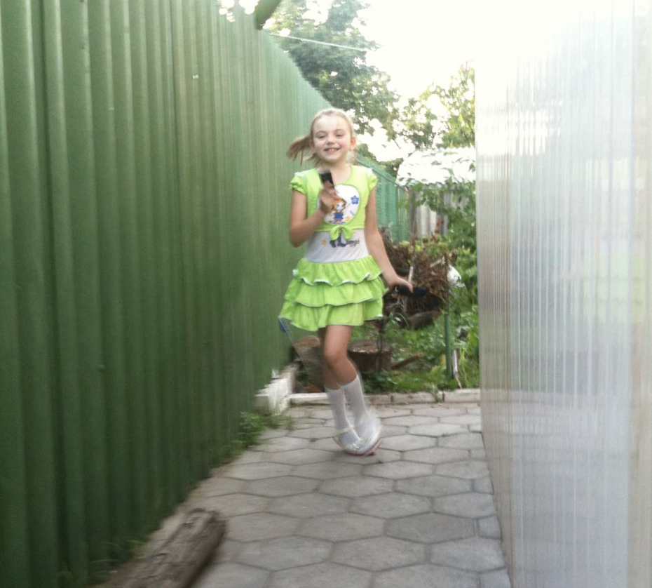 My daughter Veronika at eight years old.
