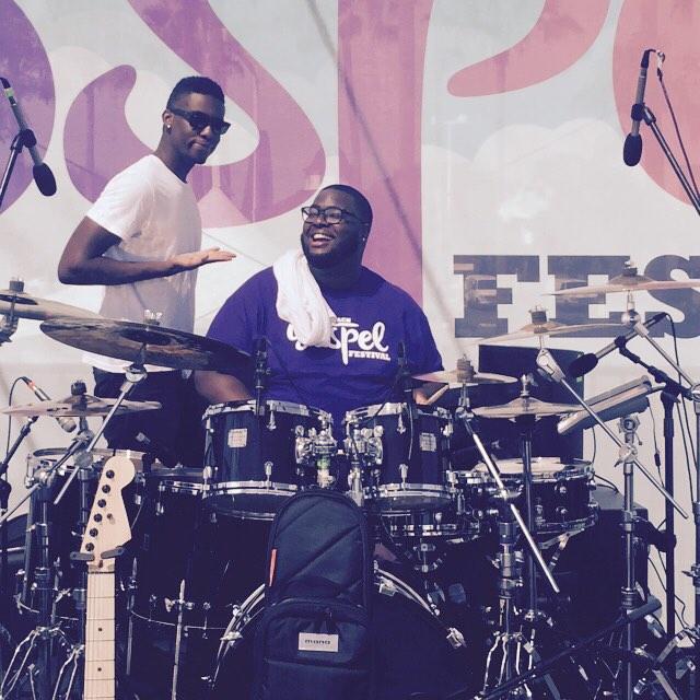Musician fun at the Long Beach Gospel Fest! #lbgospel #antiochlb #summer2remember @walearowora @brenttwood