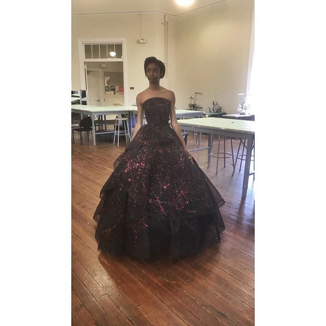In the presence of royalty @liandra_mullings @scadfashion #SCAD #BLM #blackdesigner #eveningwear #couture #fashion #scad #kingsandqueens #blackgirlmagic #ballgown #melaningoddess