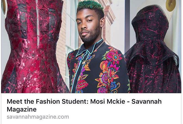 Check it out check it out @savannahmagazine  #scadsavannah #scadfashion #blackdesigner #melaninpoppin #kingsandqueens #mosimckie #couture #eveningwear