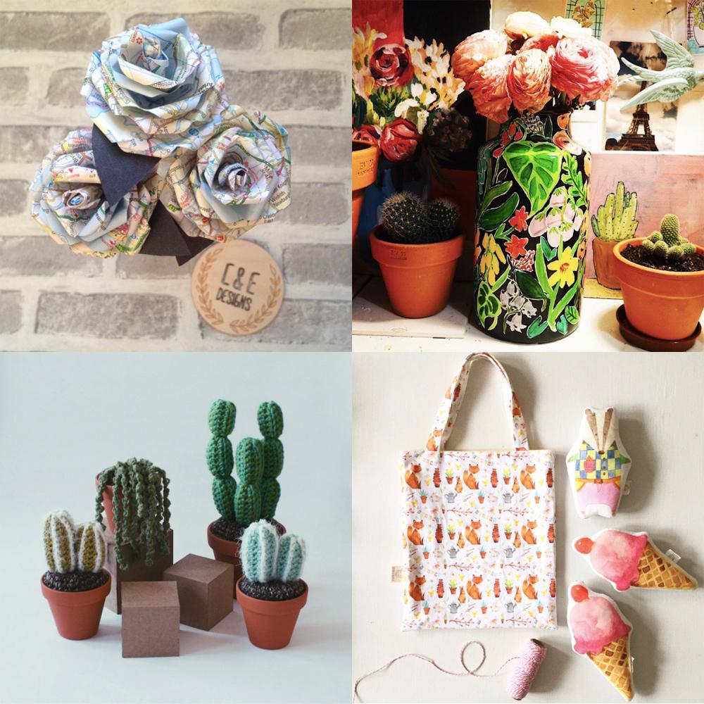 Top Row -  @CandE_Designs  -  @ella_masters  Bottom Row -  @emilysianhart  -  @foxintheattic