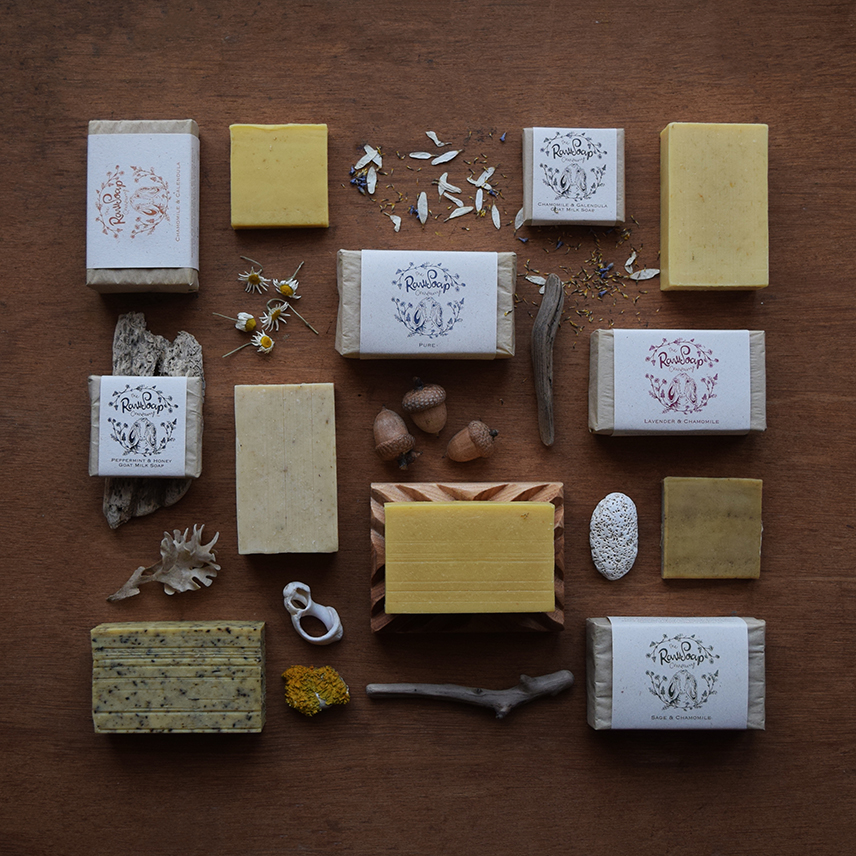 Handmade Goat Milk soap bars by the Raw Soap Company.jpg