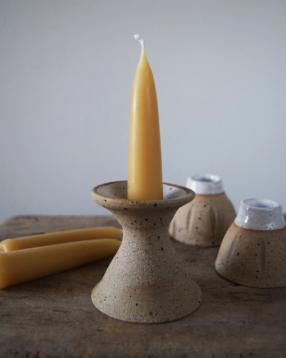 Handmade candle holders from our latest collaboration with East London ceramicist Senay Yildiran.jpg