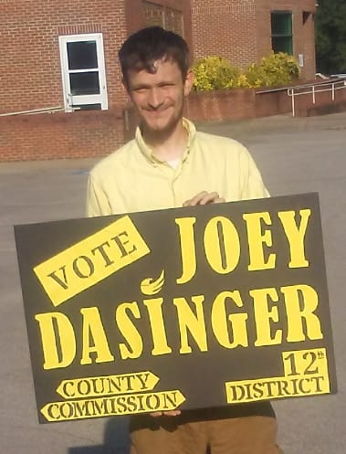 Joey Dasinger - Received over 30% of the vote for Montgomery County Commission.