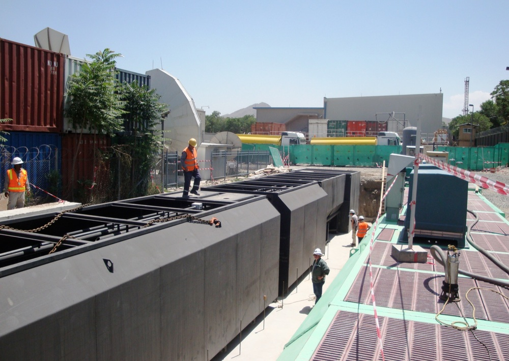 US Embassy Kabul, Afghanistan Dual 40,000 GPD (6,300 l/hr)Prefabricated steel secondary & dual media tertiary filters.