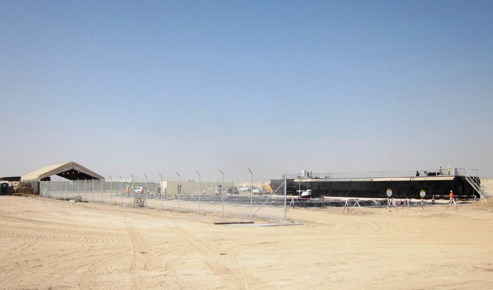 US Air Base KANDAHAR, Afghanistan 10 HP (7.5 kW)influent lift station, with 193,000 GPD (8.5 l/s)High BOD/TSS loading Secondary Treatment System
