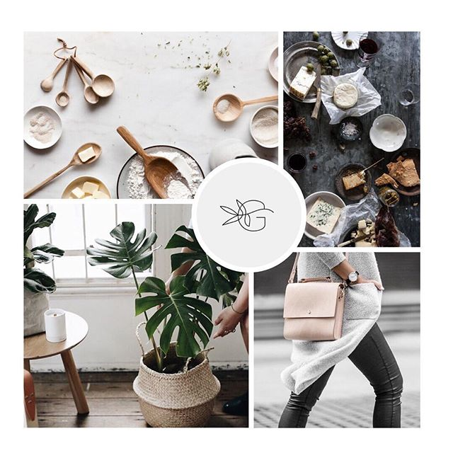 Moodboard for a soon to be launched brand that I couldn't be more excited about! 🍾🌿