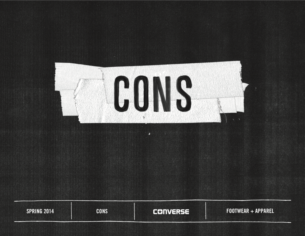 Converse SP14 CONS Lookbook / click image to view