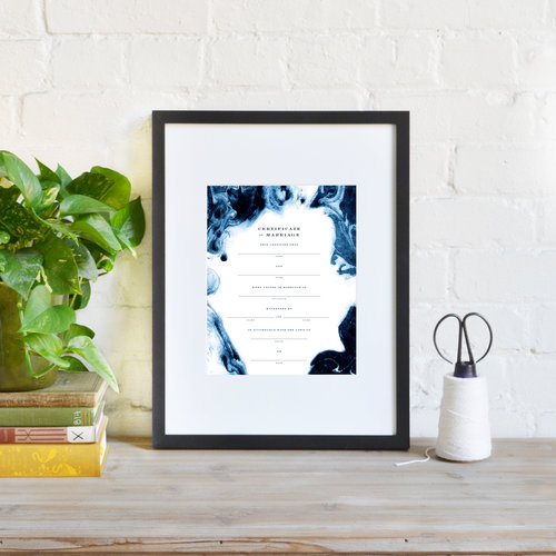 Marriage Certificate | Blue Marble — August & Osceola