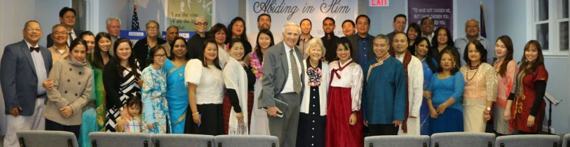Missions conference 2015 with Evangelist Gary Gillmore. On our last day we wore different ethnic clothes..