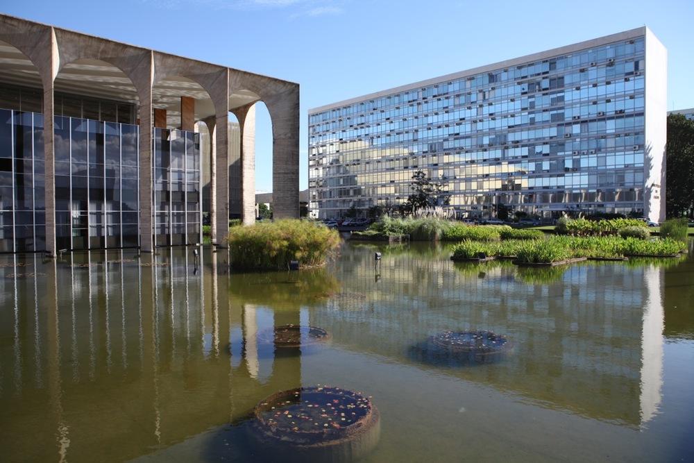 Copy of Brasilia, Itamaraty Palast von Oscar Niemeyer