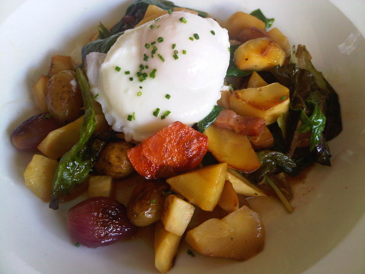 Brunch @  Lineage  in Coolidge Corner: Fall Vegetable Hash
