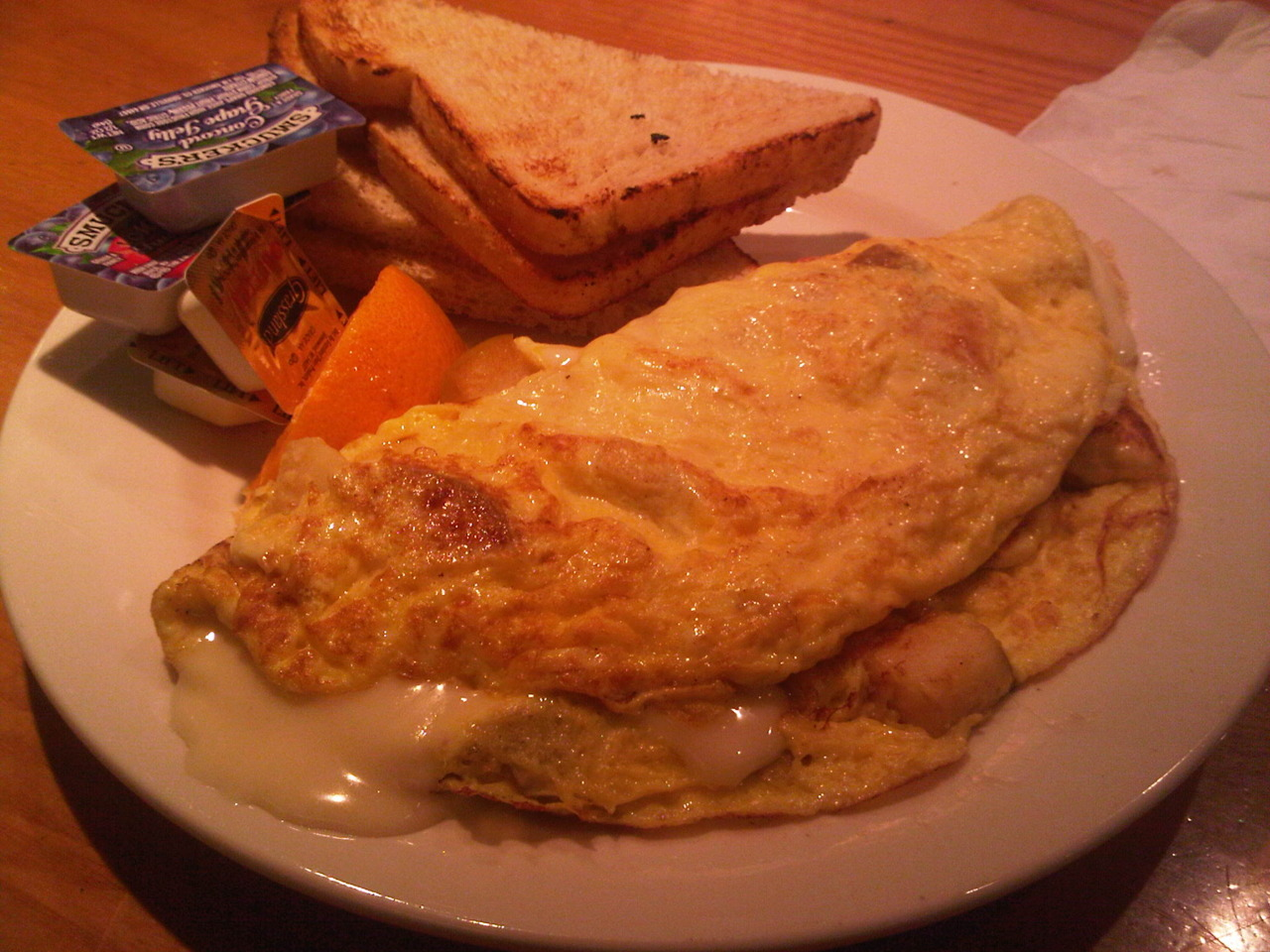 Apple Brie Omelette @  Trident Cafe