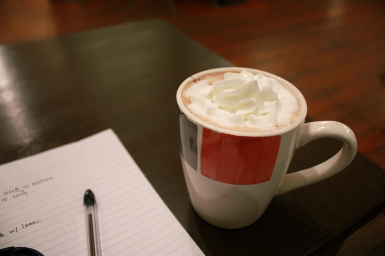 Mocha Latte @  Zephyr Coffeehouse  in Pasadena (my favorite coffeehouse in LA!)