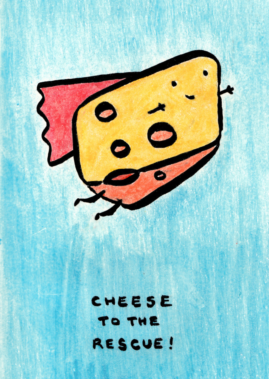 atsween :       cheese to the rescue       Adorable, love this!