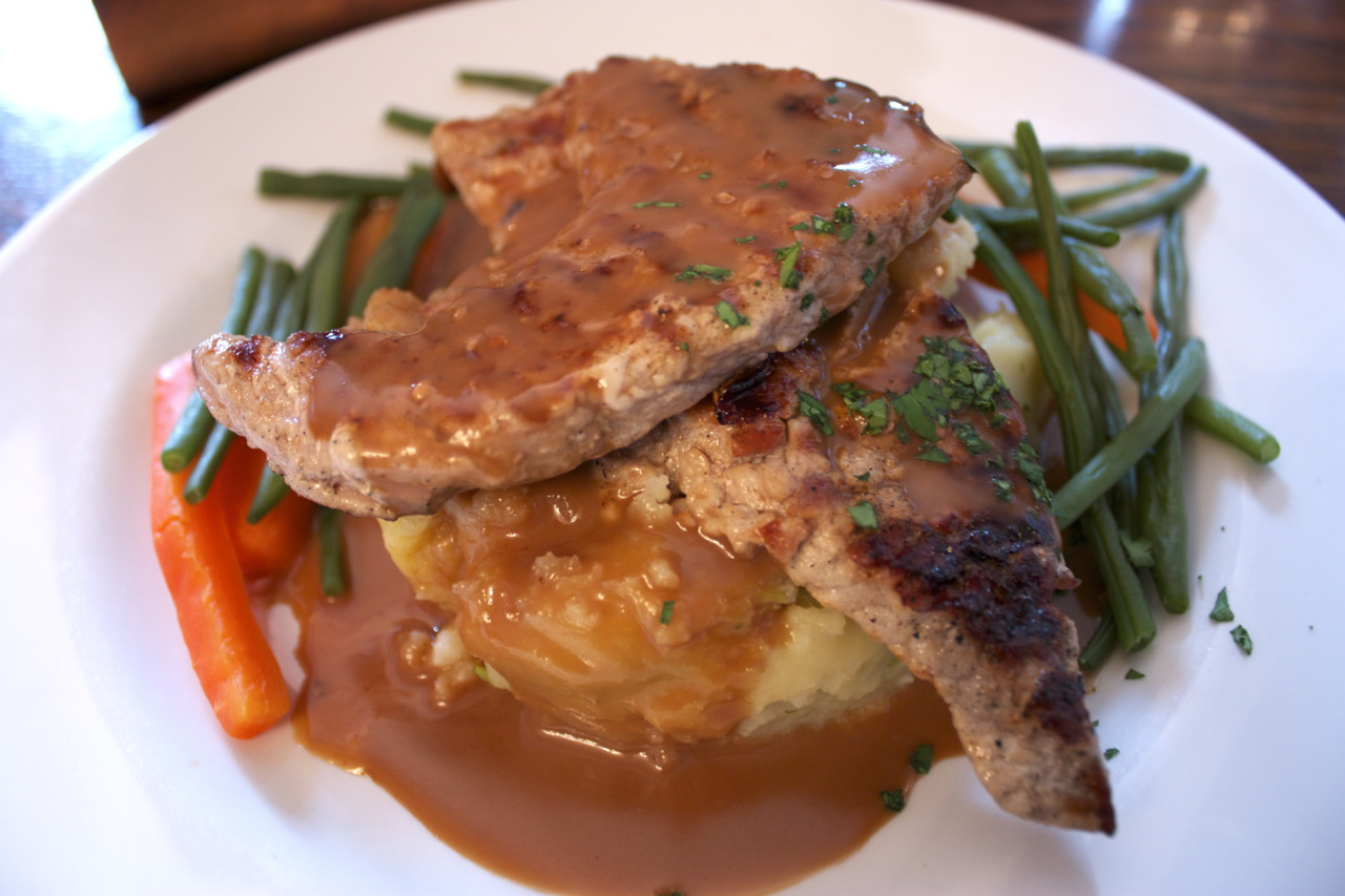 Pork Escalope in Cider Gravy @  The Mawson Arms  in Chiswick