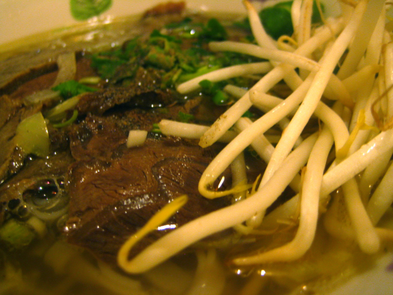 Beef Pho @  Hanoi Cafe  in East London   *Disclaimer: It did not taste as good as it looked. I miss good Viet food from LA.